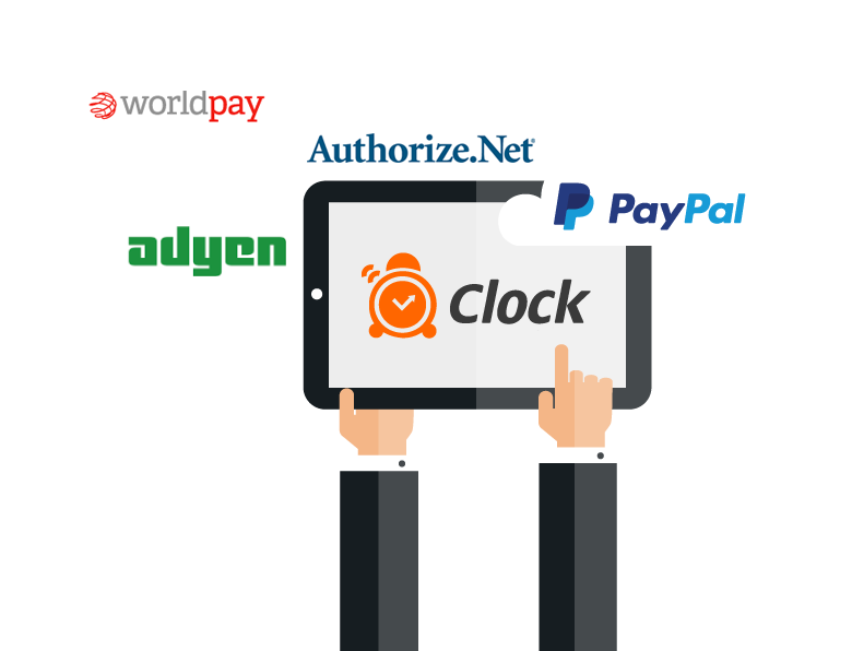 Clock PMS Suite integrated payments - PayPal, WorldPay and etc.