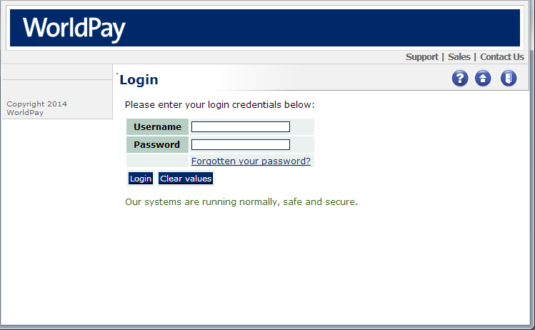 Worldpay Login