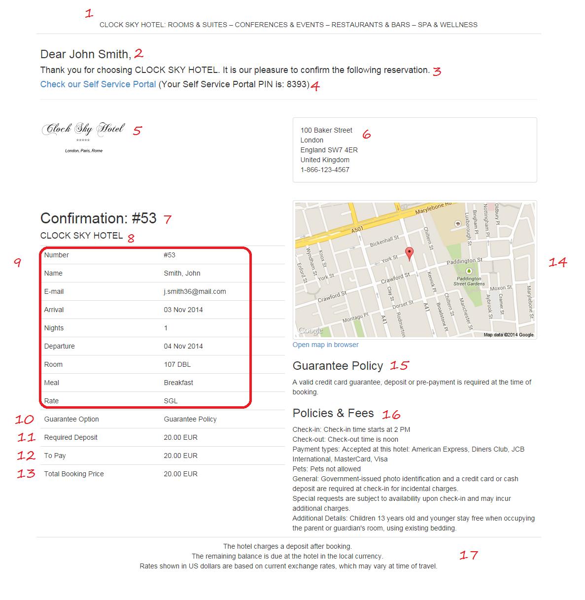 booking confirmation email. Black Bedroom Furniture Sets. Home Design Ideas